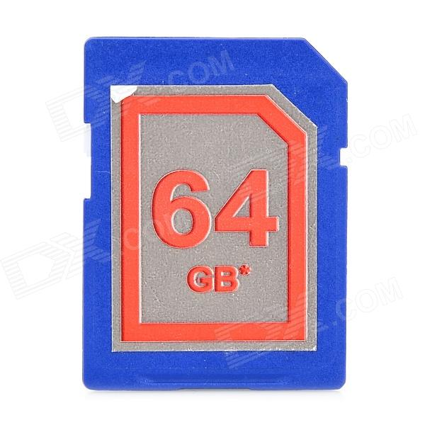 High Speed SD 64GB Class 10 SD Card - Deep Blue - DXSD Card<br>Capacity 64GB Speed Class Rating Class10 Brand OthersZhongxing Model SD HX 64GB Material Plastic + copper Color Deep Blue Quantity 1 Piece Max Read Speed 30 Max Write Speed 20 Overwrite Protection Switch No Packing List 1 x SD card<br>
