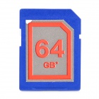 High Speed SD 64GB Class 10 SD Card - Deep Blue