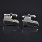 DEDO MG-118 Piano Style Shirt Cufflinks - Gold + White (Pair)