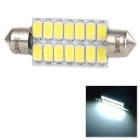 SENCART 41mm 14smd 573 Festoon 40mm 4.5W 150lm 9500K 14-5730 SMD LED Cool White Light Lamp (9~36V)