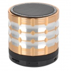 K1 Portable 3W Bluetooth V2.1 Speaker w/ Mic / Mini USB / TF / FM - Golden + Black + Silver