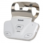 A1 Steering Wheel Installed Hands-Free Bluetooth Car Kit - White + Silver