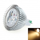 LUO V22 MR16 3W 270~300LM 3000K 3-LED Warm White Light Spotlight - Silver (12V)