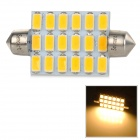 SENCART Festoon 44 milímetros 5W 220LM 3500K 18-SMD 5730 LED Warm White Car lâmpada (9 ~ 36V)
