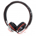 OYKOK-402 Detachable Headphone w/ Microphone - Black + Red