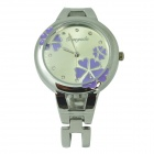 Fashion Bracelet Style Analog Quartz Wrist Watch - Silver + Light Purple (1 x LR626)