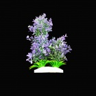 E4XXJ Decorative Lifelike Artificial Water Plants for Aquarium - Purple + Green