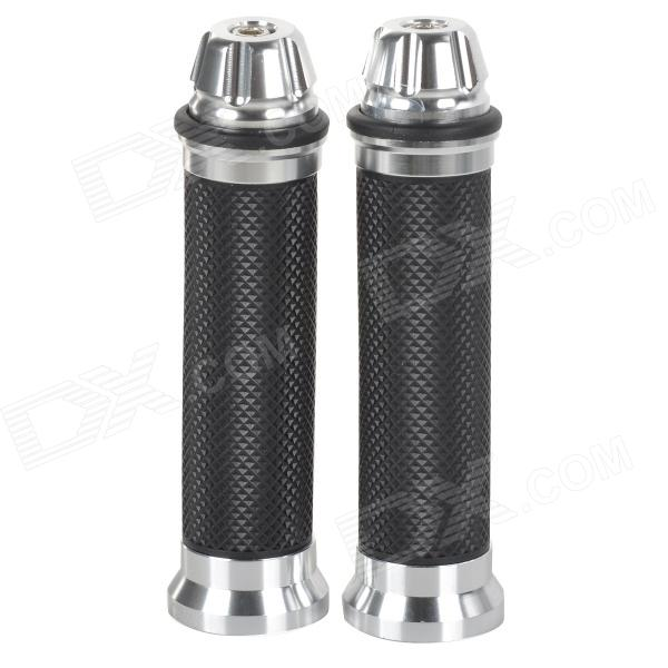 XINLI XL8 Universal Motorcycle Handle Bar Covers - Black + Silver (Pair)