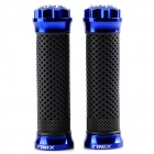 Motorcycle Replacement CNC Aluminum Alloy Handle Grip Covers - Blue + Black (Pair)