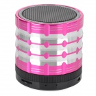 K1 Portable 3W Bluetooth V2.1 Speaker w/ Mic / Mini USB / TF / FM - Deep Pink + Black + Silver