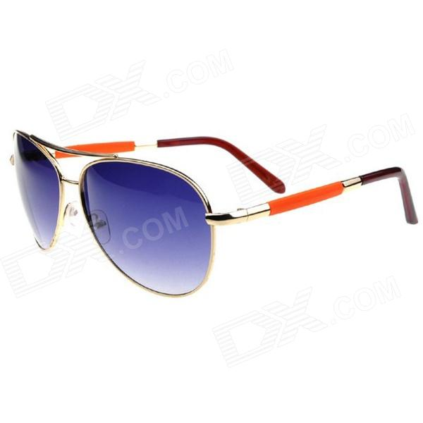 2014 New Arrival Classic UV400 Protection Sunglasses - Golden + Deep Blue