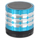 K1 Portable 3W Bluetooth V2.1 Speaker w/ Mic / Mini USB / TF / FM - Blue + Black + Silver