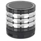 K1 Portable 3W Bluetooth V2.1 Speaker w/ Mic / Mini USB / TF / FM - Silver + Black