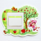 A Little Girl Plays on the Swing Switch Wall Sticker - Multicolored (Worldwide Standard Size Switch)
