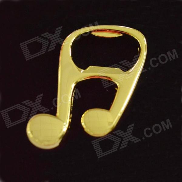 DEDO MG-82 Music Notes Style Stainless Steel Bottle Opener - Golden
