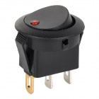 14031902 Teeterboard Style Red Light Car Switch - Black + Red + Multi-Colored (2 PCS)