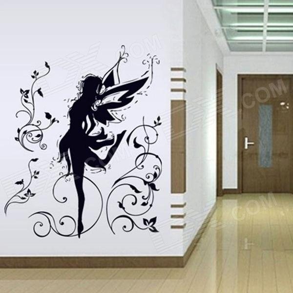 Beautiful Elfin Bedroom Removable Wall Sticker - Black
