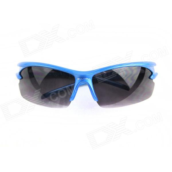 Outdoor Durable Anti-Shock Glasses - Blue + Black reedoon f207 radiation blue ray protection tr90 frame resin lens gaming glasses black blue