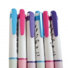 DEDO MG-6 Colorful Music Notes Automatic Ballpoint Pen - Multicolored (6 PCS)