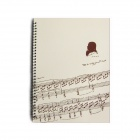 DEDO MG-21 Music Notes Music Score Notebook - Beige