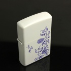 Blue And White Porcelain Pattern Oil Cigarette Lighter - Blue + White