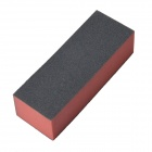 AYA-01 3-Sides Buffer Block for Buffing and Sanding DIY Manicure Nail Tool - Black + Red