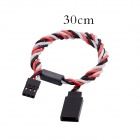 30cm 60 Core Anti-interference RC Servo Extension Cord w/ Magnetic Ring for JR / Futaba