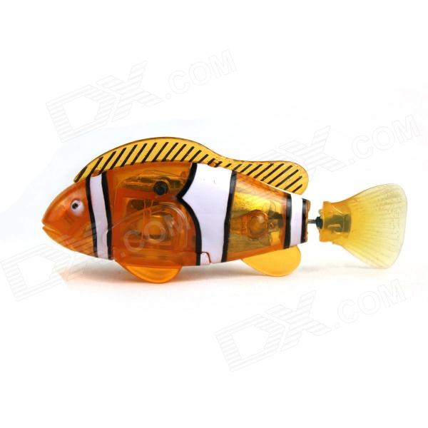 Puman mágica flash Pet Fish juguete w / Plantas + destornillador + 2 - LR44 - Orange