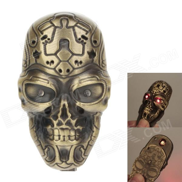 HONG XUAN 1916 Skull Style USB Rechargeable Electronic Cigarette Lighter - Golden (5V)
