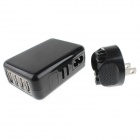 4-USB US Plugs AC Power Charger Adapter for IPHONE IPAD Samsung - Black