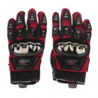 MAD-01S Professional Full-Finger Racing Gloves - Red + Black (Size L)