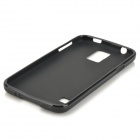 Protective PVC + TPU Back Case w/ Screen Protector for Samsung Galaxy S5 - Black