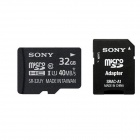 Genuine SONY MICRO SDHC CLASS 10 WITH MICRO SD ADAPTOR - 32GB