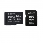 Genuine SONY MICRO SDHC CLASS 10 WITH MICRO SD ADAPTOR - 64GB