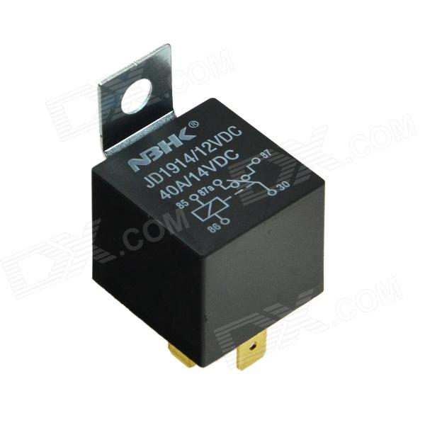 Produino NSR-01 400W 40A Car Power Relay - Black (12V) waterproof car relay dc 12v 40a 5pin automotive fuse relay normally open s018y high quality