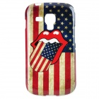 Stylish US Flag Mouth Pattern TPU Back Case for Samsung Galaxy Trend Duos S7562 / S7560 - Multicolor