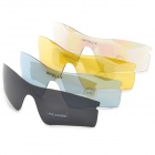 OPOLLY OP108 Polarization Cycling Sunglasses Goggles w/ Replacement Lens - Red REVO + White
