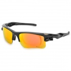 OPOLLY OP105 Polarized Cycling Sunglasses Goggles w/ Replacement Lens - Red REVO + Black