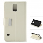 Crystal Pattern Protective PU + PC Case w/ Stand for Samsung S5 - White