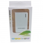 """8400mAh"" Dual USB External Battery Charger Power Bank w/ USB Cable for IPHONE / HTC - White + Gray"