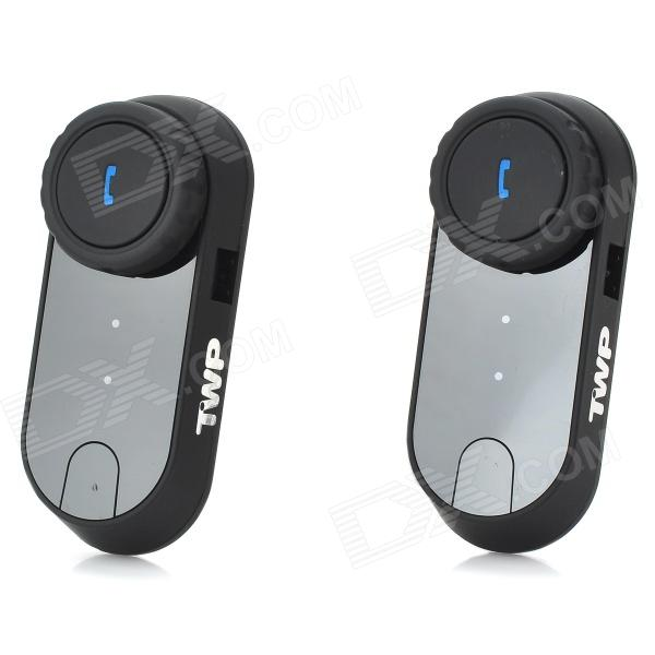 V0-1000 Bluetooth Interphone håndsett for motorsykkel / ski hjelm Intercom (1000m / 2PCS)