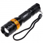 COFLY KX-055 Cree XM-L U2 700lm 5-Mode Zooming White Flashlight - Black + Golden (1 x 18650)