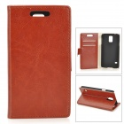 Crystal Pattern Protective PU + PC Case w/ Stand for Samsung S5 i9600 - Brown
