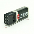 Blocklite Mini Ultrabright 6-LED 36lm 2-Mode Flashlight - Black (1*9V)