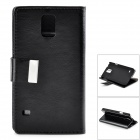 Crystal Pattern Protective PU + PC Case w/ Stand for Samsung S5 - Black