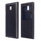 Protective PU Leather Case w/ Wireless Charging / Auto-Sleep for Samsung Galaxy Note 3 N9000 - Black