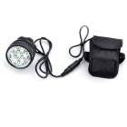 Marsing B70 7-LED 3-Mode White Bike Light / Headlamp - Black (6*18650)