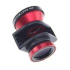 Micro-NIKKOR + Wide-angle + Fisheye Lens for IPHONE 5/5S - Red + Black