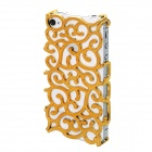 Caso Goodlen ahuecado Flores Estilo PET Back for IPHONE 5 - Golden