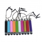 MXT Universal Aluminum Retractable Stylus Pen w/ Strap for IPHONE/IPAD - Multicolor (10 PCS)